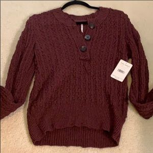 Free people brand new button up sweater